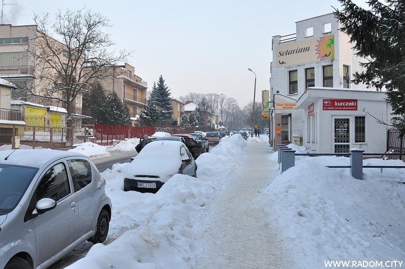 Radom. Ulica Kusocińskiego.