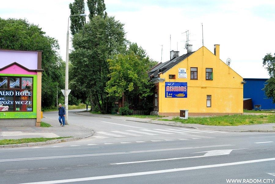 Radom. Ulica Odrzańska widziana z ul. Okulickiego.