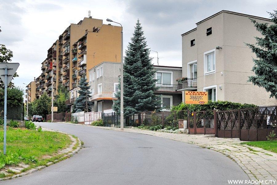 Radom. Ulica Natolińska, widok od strony ul. Głównej.
