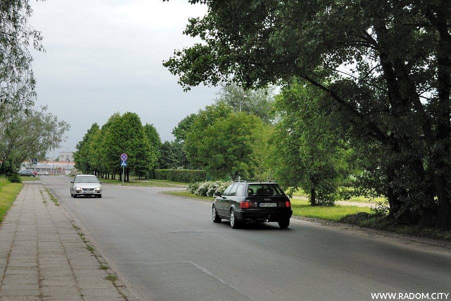 Radom. Ulica Pułaskiego widziana z ul. Warszawskiej.