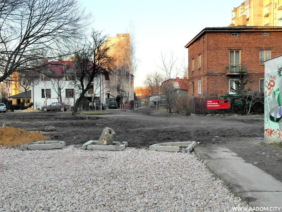Radom. Ulica Betonowa widziana z ul. Kelles-Krauza.