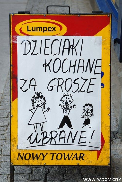 Radom. Reklama przy ul. Żeromskiego.