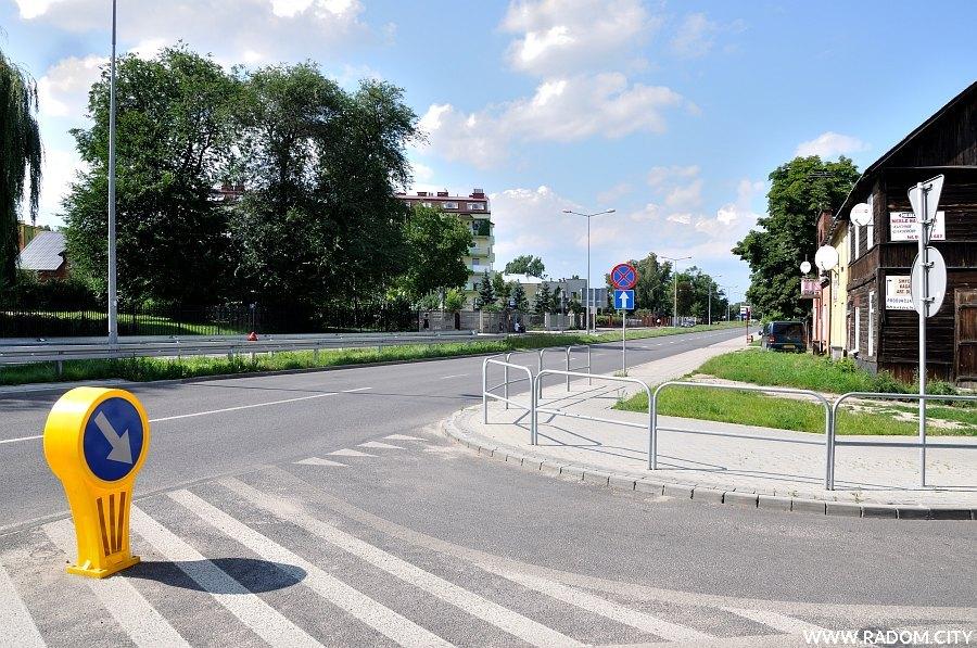 Radom. Ulica Mariacka widziana z ul. Sedlaka