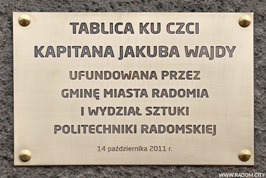 Radom. Tablica Jakuba Wajdy.