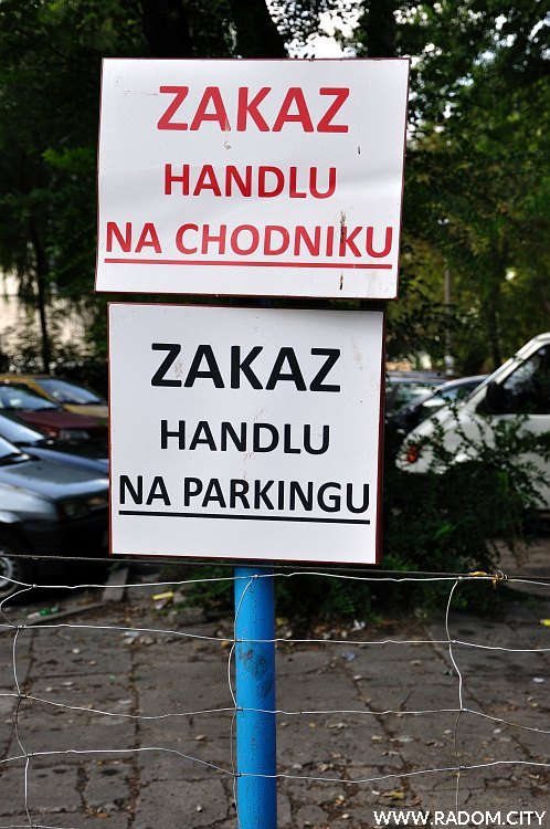 Radom. Zakaz handlu - Struga/Potok Północny.