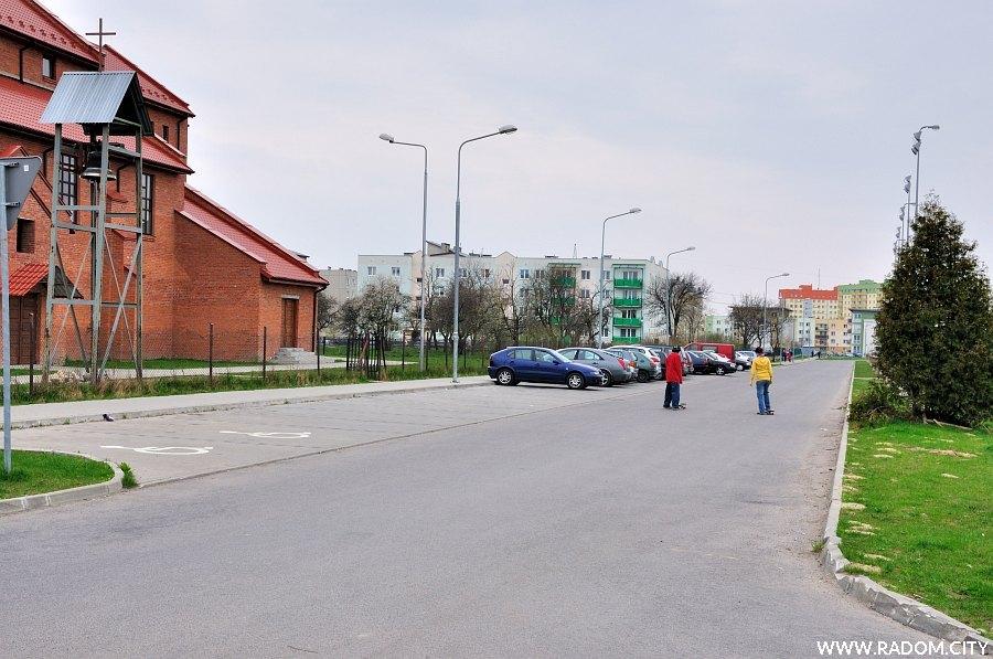 Radom. Ulica Michałowska widziana z ul. Terenowej.