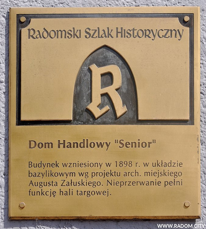 Radom. Radomski Szlak Historyczny/tablica - DH Senior.