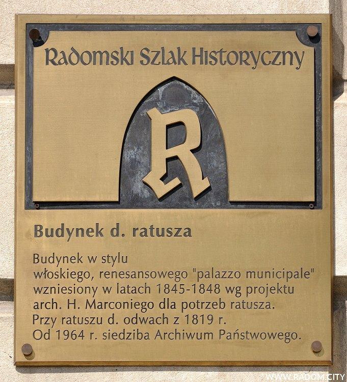 Radom. Radomski Szlak Historyczny - Ratusz.