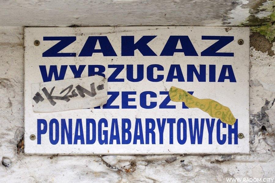 Radom. Zakaz na śmietniku/Bogusławskiego.