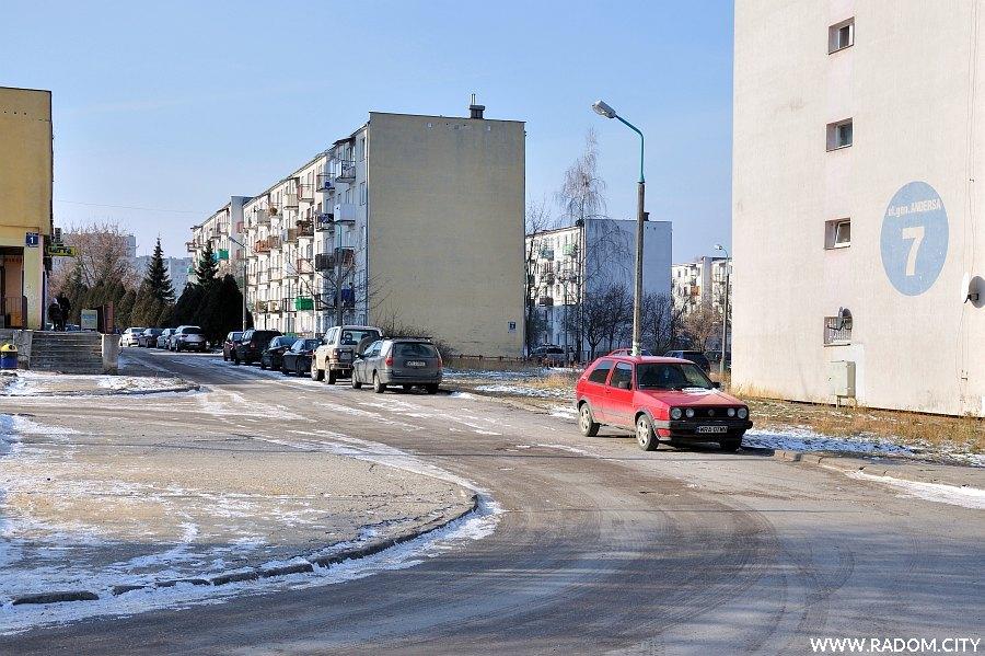 Radom. Ulica Skorupki widziana z ul. Andersa.