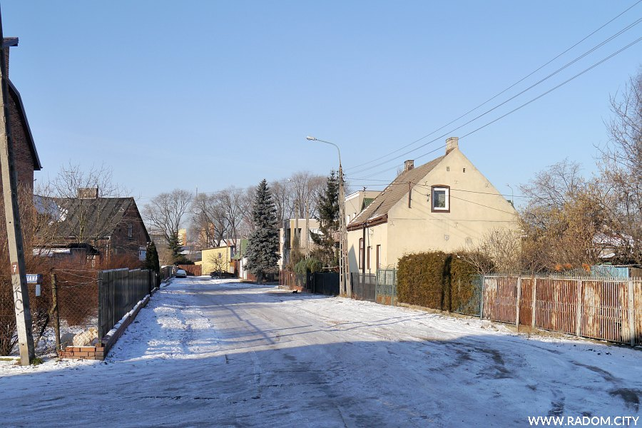 Radom. Ulica Piwna widziana z ul. św. Floriana.