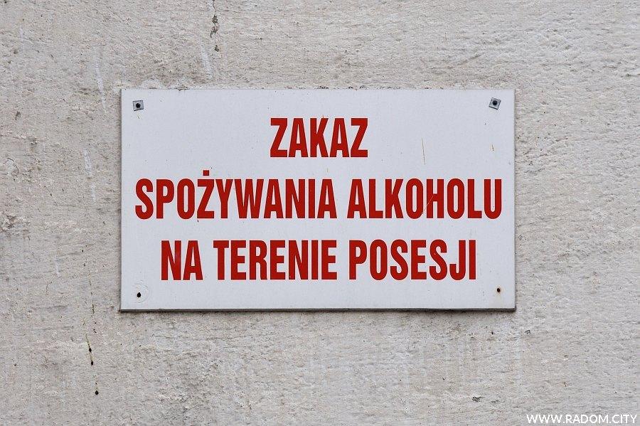 Radom. Zakaz spożywania alkoholu/Struga 52.