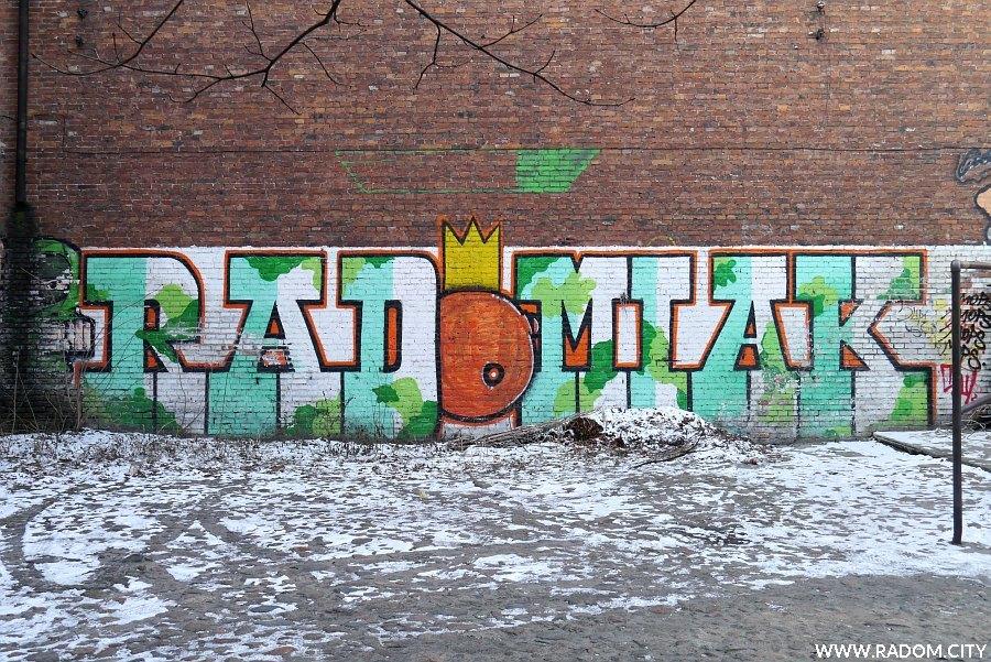 Radom. Graffiti Radomiak - Skłodowskiej 6.