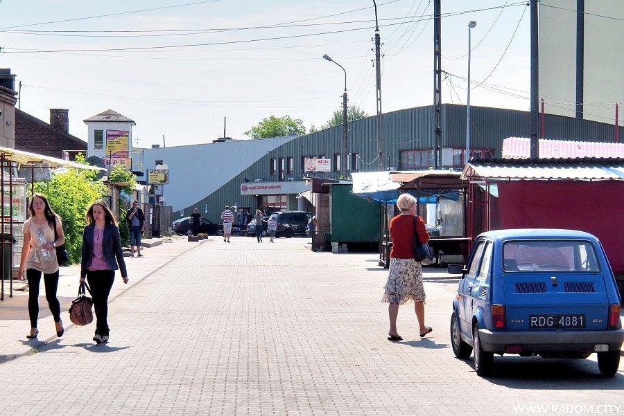 Radom. Ulica Poznańska widziana z ul. Śląskiej.