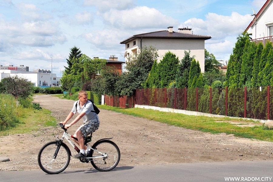 Radom. Ulica Jarzynowa widziana z ul. Białej.