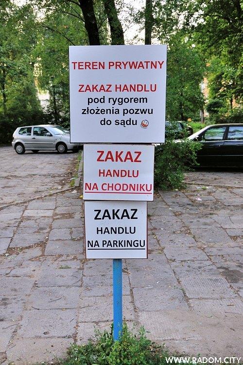 Radom. Zakaz handlu/Struga.