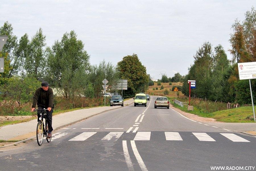Radom. Ulica Wapienna z ul. Wolanowskiej.