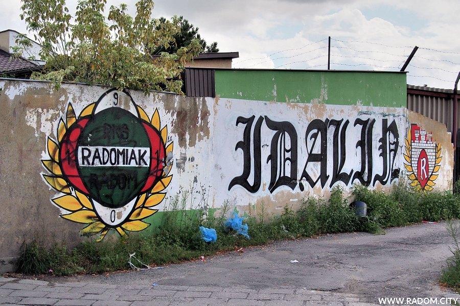 Radom. Graffiti - Śnieżna/Idalińska.