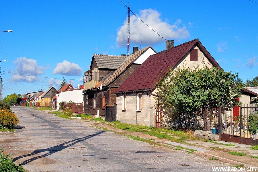 Radom. Ulica Drewniana od strony ul. Kieleckiej.