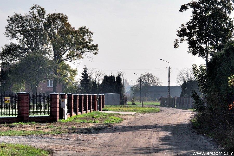 Radom. Ulica Szeroka Droga od strony ul. Słowackiego.