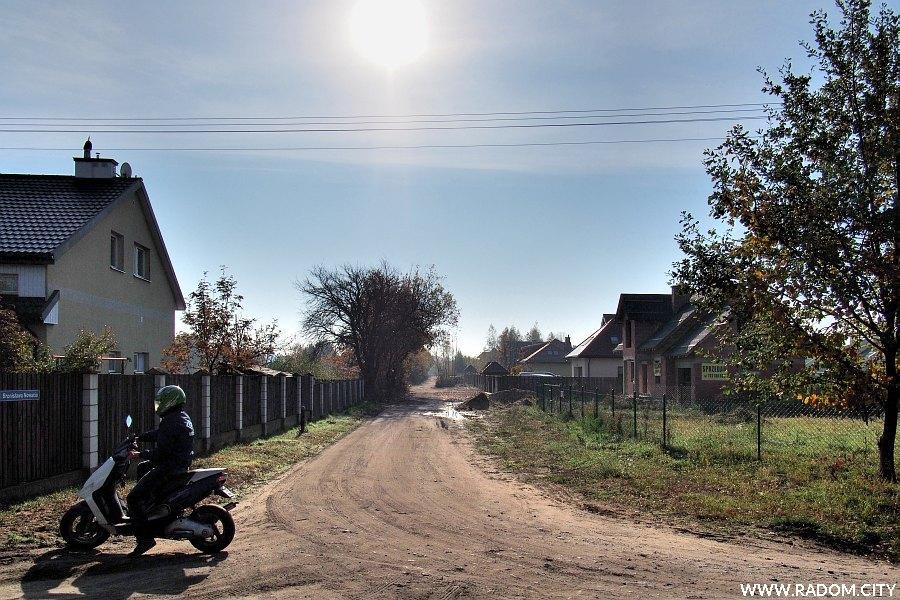 Radom. Ulica Nowacia z ul. Podleśnej.