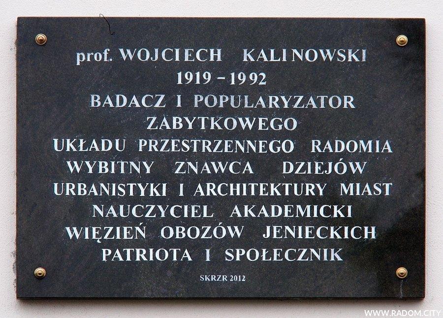 Radom. Tablica Wojciecha Kalinowskiego.