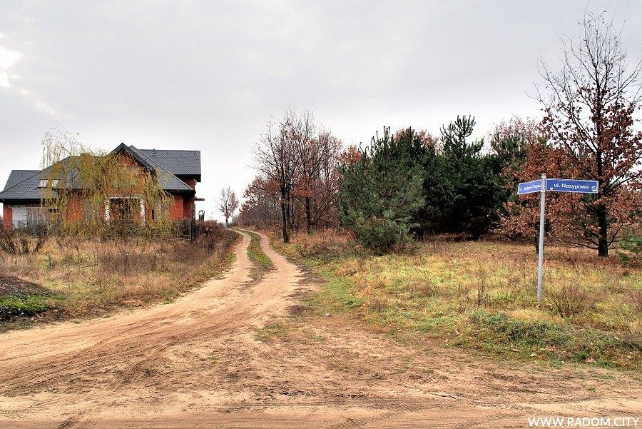 Radom. Ulica Zielone Wzgórze z ul. Nasypowej.