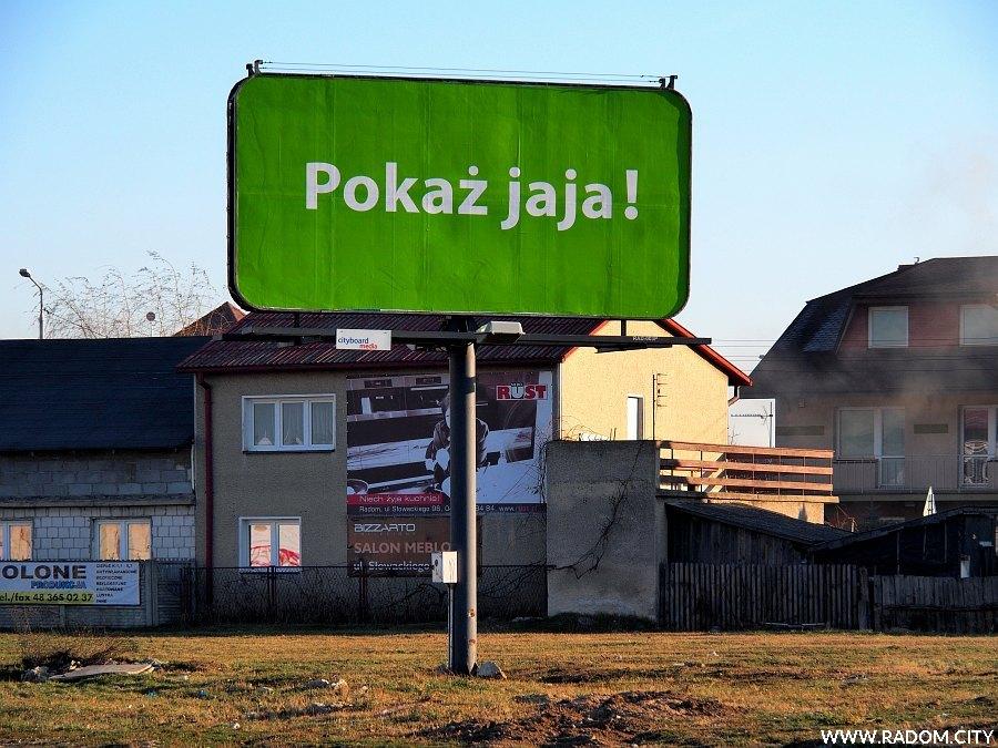 Radom. Reklama przy alei Wojska Polskiego.
