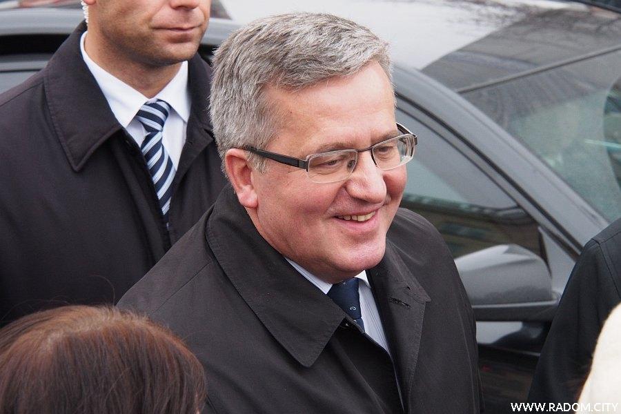Radom. Prezydent Bronisław Komorowski w Radomiu.