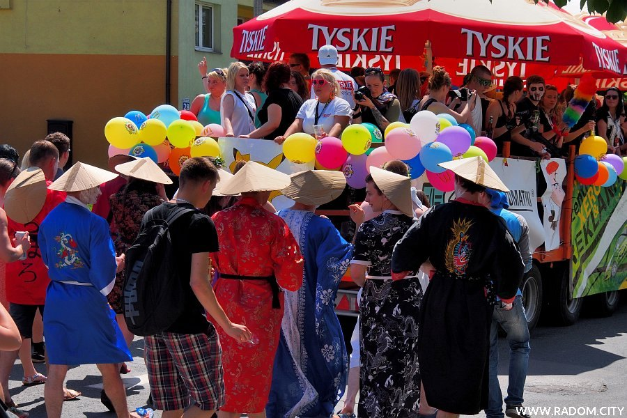 Radom. Parada na rozpoczęcie Wiosny Studenckiej.