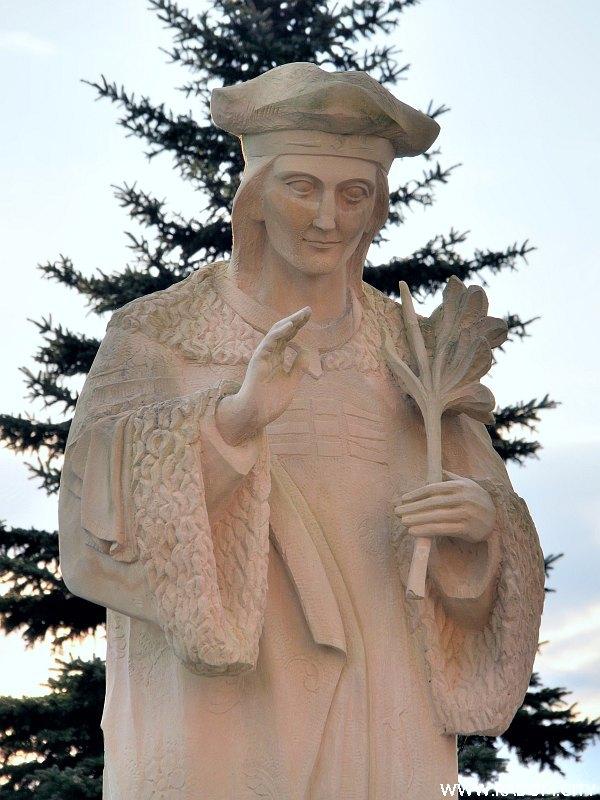 Radom. Pomnik św. Kazimierza.