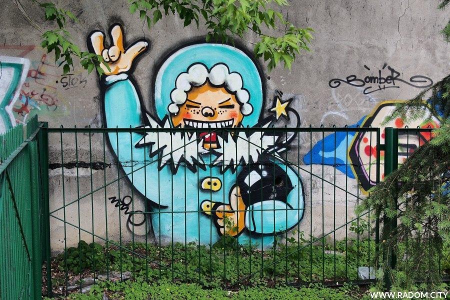 Radom. Graffiti przy ul. Szklanej.