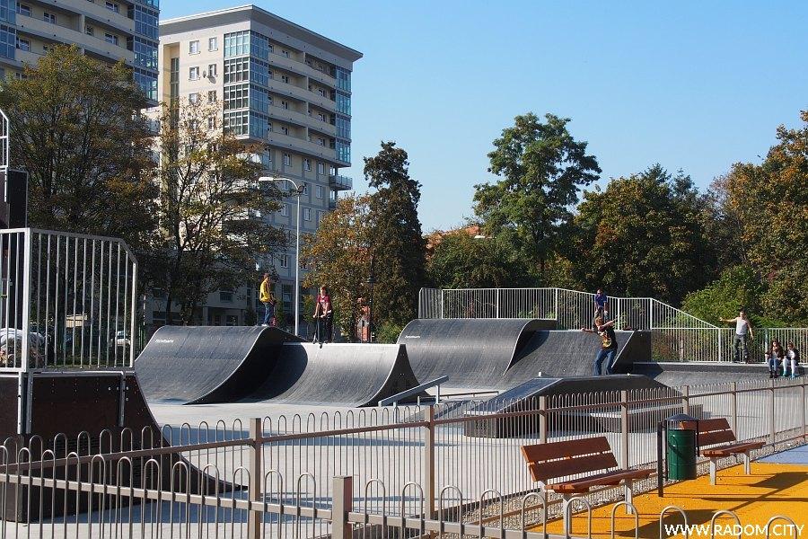 Radom. Skatepark w Leśniczówce.