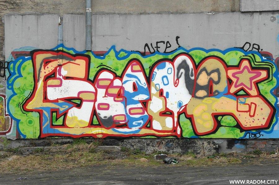 Radom. Graffiti przy Kelles-Krauza.