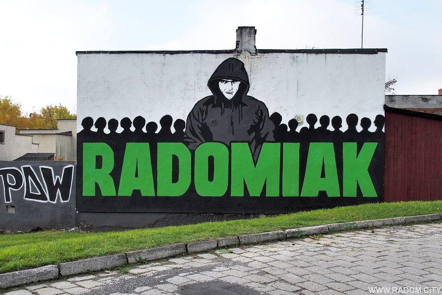 Radom. Graffiti przy ul. Planowej.