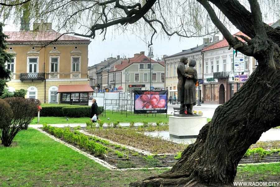 Radom. Wystawa antyaborcyjna/Żeromskiego.