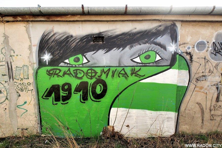 Radom. Graffiti - garaże przy Olsztyńskiej.