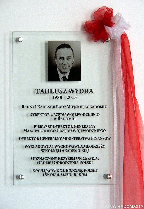 Radom. Tablica Tadeusza Wydry.