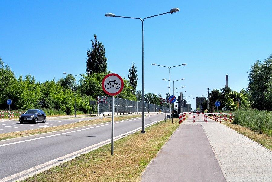 Radom. Ul. Lipskiego, widok na wschód od strony skrzyżowania z ul. Stalową.