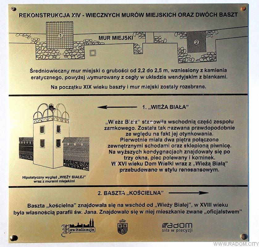 Radom. Tablica na plac Unii Wileńsko-Radomskiej.
