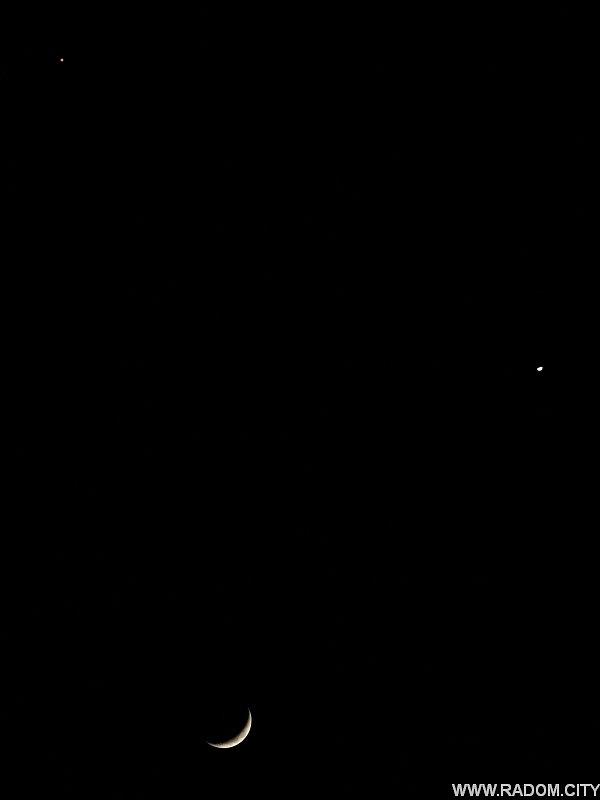Radom. Księżyc, Wenus i Mars.