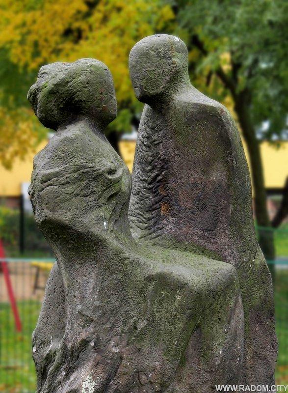 Radom. Rzeźba przy ul. Planty.