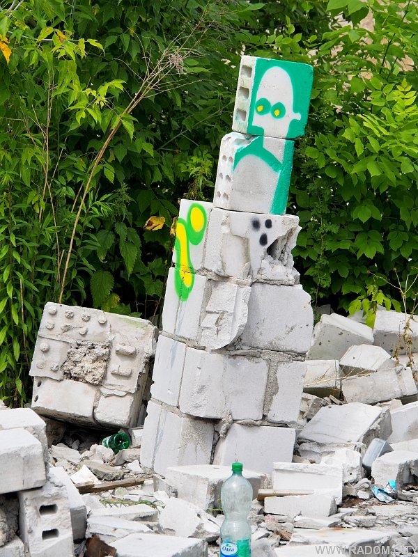 Radom. Graffiti na tyłach Impersonu.