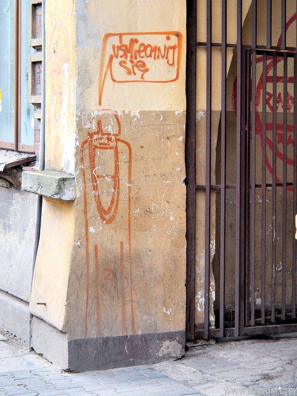Radom. Graffiti - brama Traugutta 51.