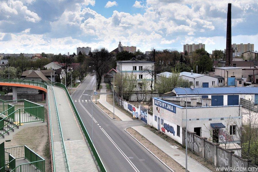 Radom. Młodzianowska z wiaduktu(Pallotyńska).