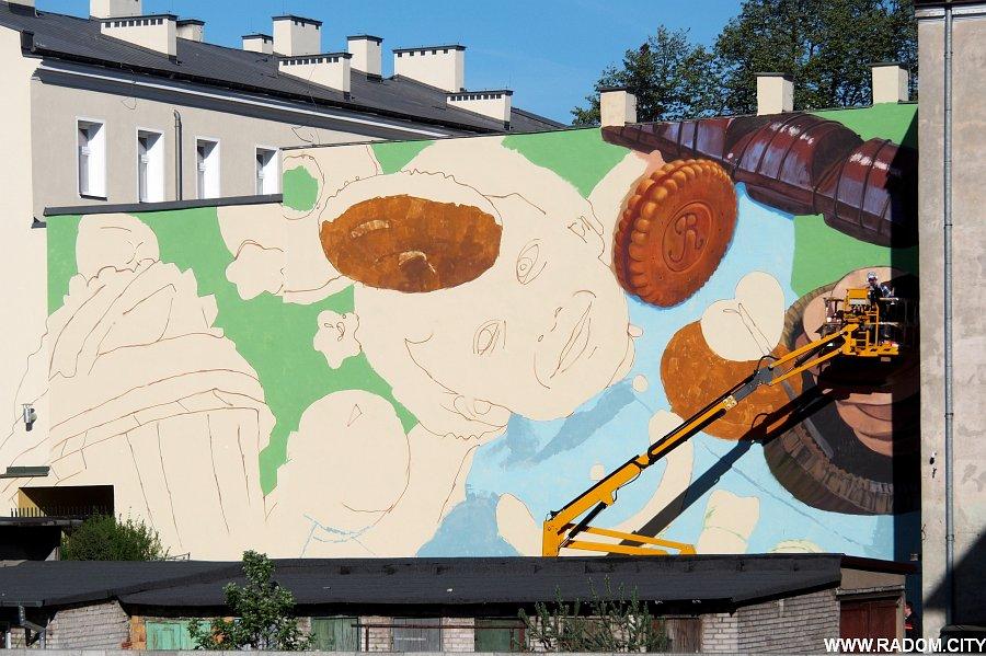 Radom. Mural/Kilińskiego.