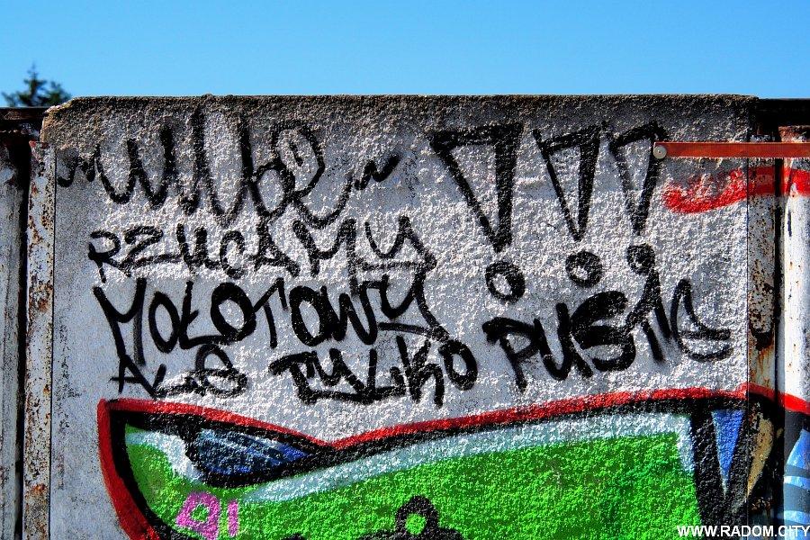Radom. Napis na murze - Odrzańska.