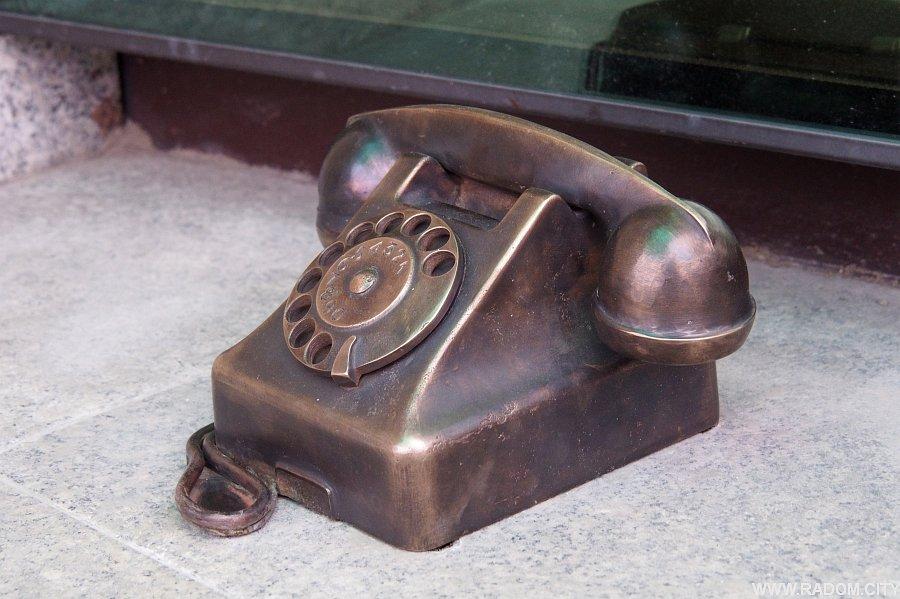 Radom. Telefon przy UM.