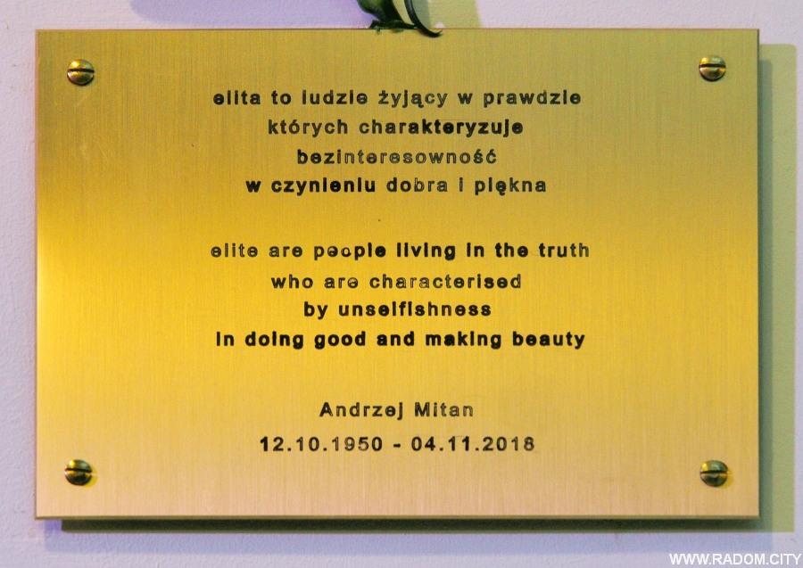 Radom. Tablica Andrzeja Mitana.